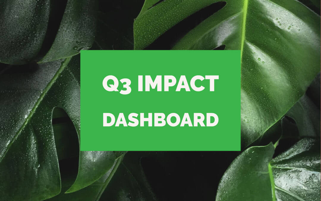 Greenworks Impact Dashboard – Q3 2019