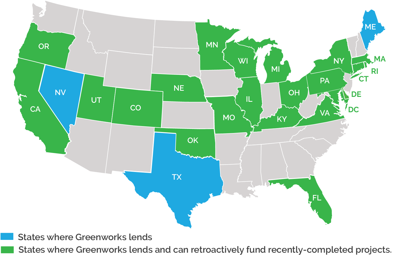 C-PACE Recapitalization Map